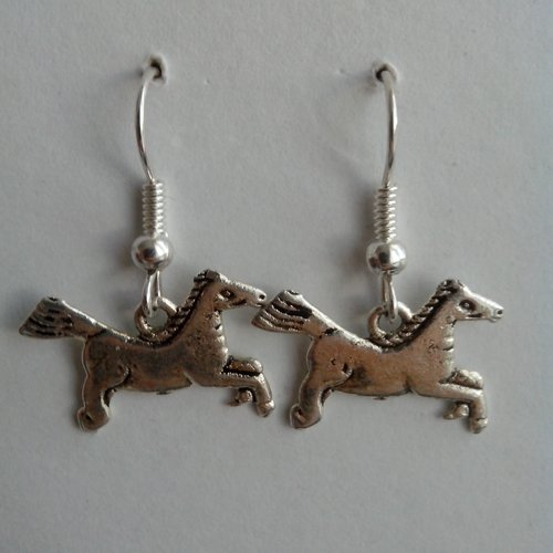 Boucle d'oreille type chevaux