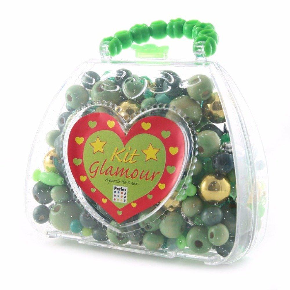 Kit Perles - Sac à main tons verts