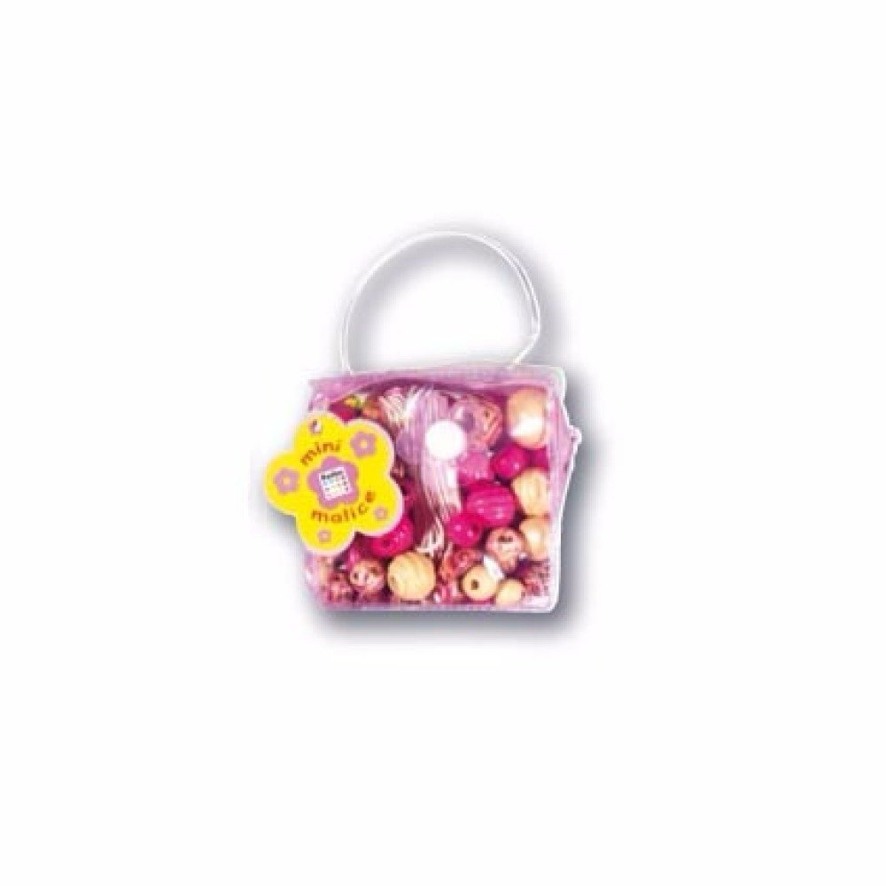 Sac Perles Les Mini Malices Assortiment perles graffiti Fuchsia