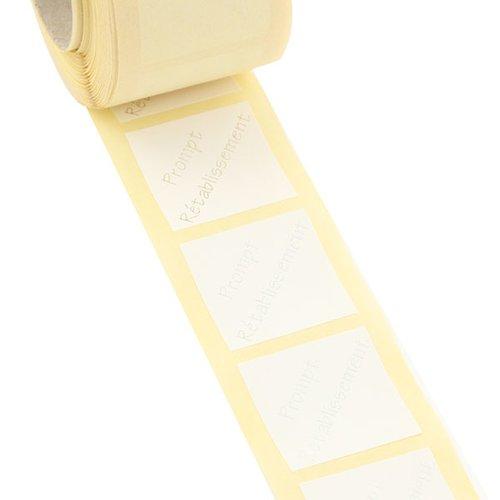 500 étiquettes cadeau autocollantes blanches 3x3cm prompt retablissement