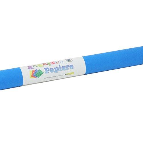 Rouleau 4642233 6 feuilles soie 20grs 50x70cm  bleu moyen