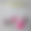"""Mobile """"chouette rose et grise"""" en feutrine sur socle en bois hibou owl pour lit bébé berceau bed room baby rose gris pink grey"""