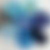 Rouleau de tulle bleu, 90 mètres,7 tons différents au choix, création de robe, de jupe tutu ou décoration de salle