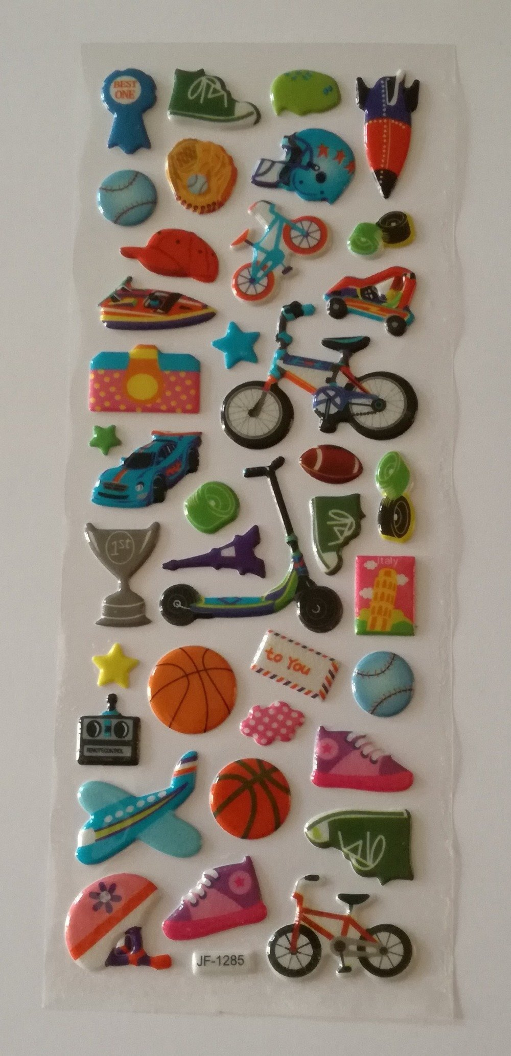 "Planche de puffy stickers "" sports """
