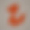 N°388 découpes d'un renard en papier orange