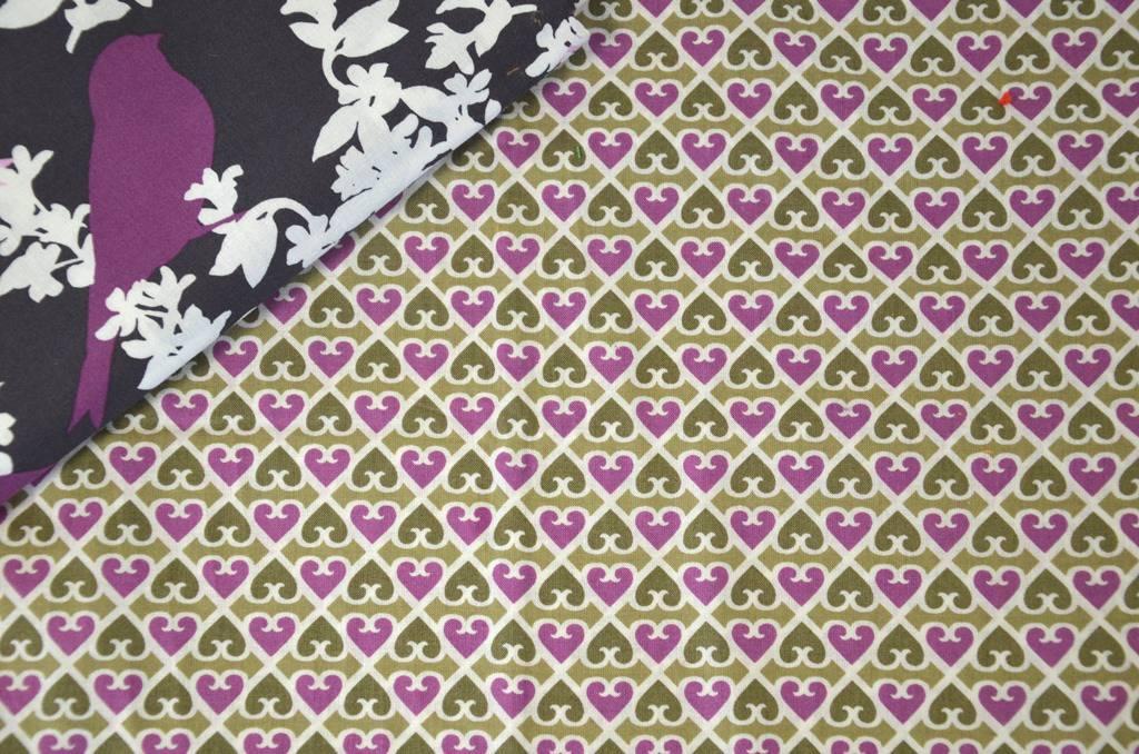 """Tissus en coton motif """"GEOMETRIQUE"""" - violet/mauve VERA BRADLEY"""