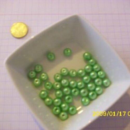 50 pièces BLEU CLAIR 8 mm perles de verre verre Perles Beads Givré Verre Givré 1948