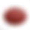 Pendentif rond en cuir artificiel rouge lie de vin 3.8 cm déstockage