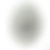 Pendentif rond estampe argentée gravée 5.5 cm
