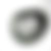 Estampe demi cercle éventail laser cut argentée