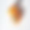 Perle à gros trou style européen œil de chat orange