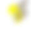 Perle à gros trou style européen œil de chat jaune