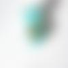Perle à gros trou style européen œil de chat bleu clair