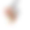 Perle à gros trou style européen œil de chat bleu mauve violet