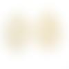 1 estampe en filigrane, rosace, pendentif beige