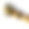 Stylo à bille or et marron