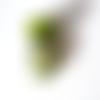 Perle à gros trou style européen œil de chat vert
