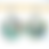 Boucles d'oreilles abalone fleurs et crochets en acier inoxydable