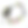 Chaîne de cheville acier inoxydable et perles multicolores millefiories