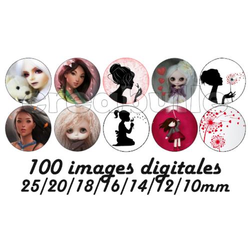 100 images digital numérique toutes taille princesse pour scrap, bijou ou même couture sur flex imprimable