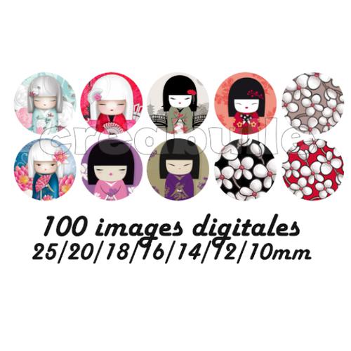 100 images digital numérique toutes taille kimidoll1 pour scrap, bijou ou même couture sur flex imprimable