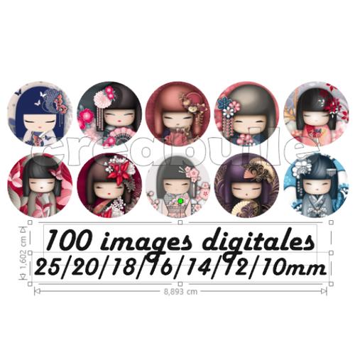 100 images digital numérique toutes taille kimidoll2 pour scrap, bijou ou même couture sur flex imprimable