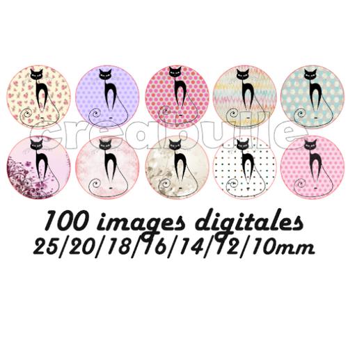 100 images digital numérique toutes taille chat 2 pour scrap, bijou ou même couture sur flex imprimable