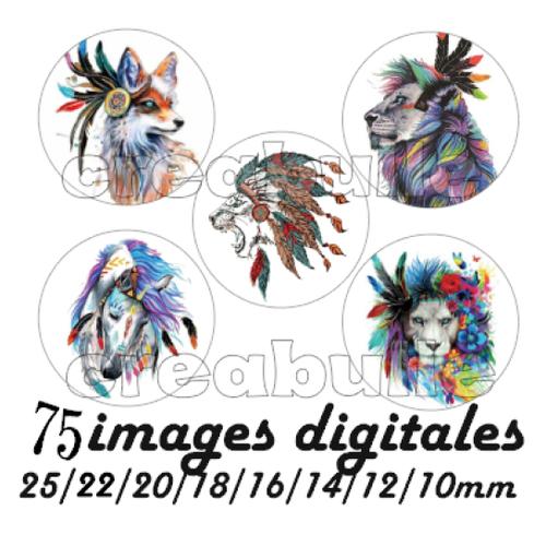 75 images digital numérique toutes taille animaux plume indien indienne pour scrap, bijou ou même couture sur flex imprimable