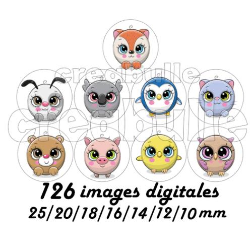 126 images digital numérique toutes taille animaux anibou pour scrap, bijou ou même couture sur flex imprimable