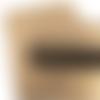 Coupon feuille de simili cuir 20x33,5cm doré foncé / bronze relief cuir peau d'autruche