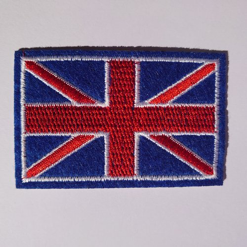 Patch drapeau anglais angleterre ecusson applique thermocollant couture customisation trousse sac vêtement