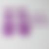 Flex motif coeur etoile (ref:g2) violet transfert thermocollant patch appliqué sur tissus pour customiser tee shirt, sac, pantalon..
