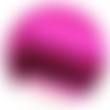 Coupon feuille de simili cuir 20x33,5cm (ref24) rose brillant effet miroir fushia