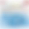 Bouton pression plastique babysnap bleu layette