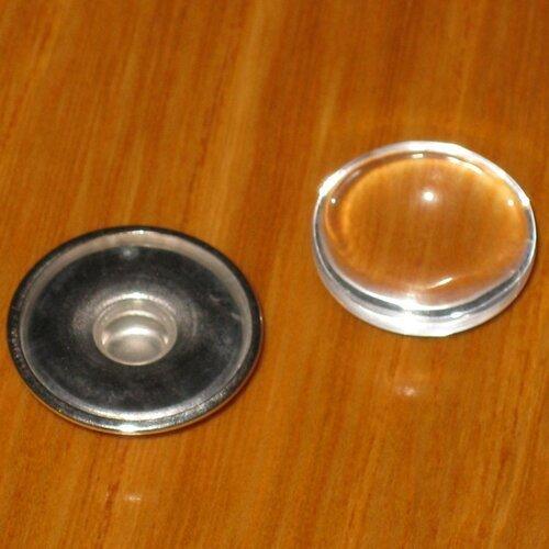 Support pression / snap pour bijoux chunk + cabochon en verre