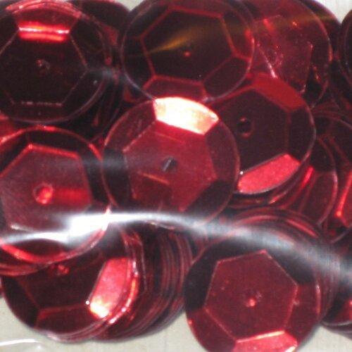 sachet de 5g de sequins  géant rouge brillant