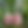 Boucles d'oreilles cube minimaliste rose et argent 925