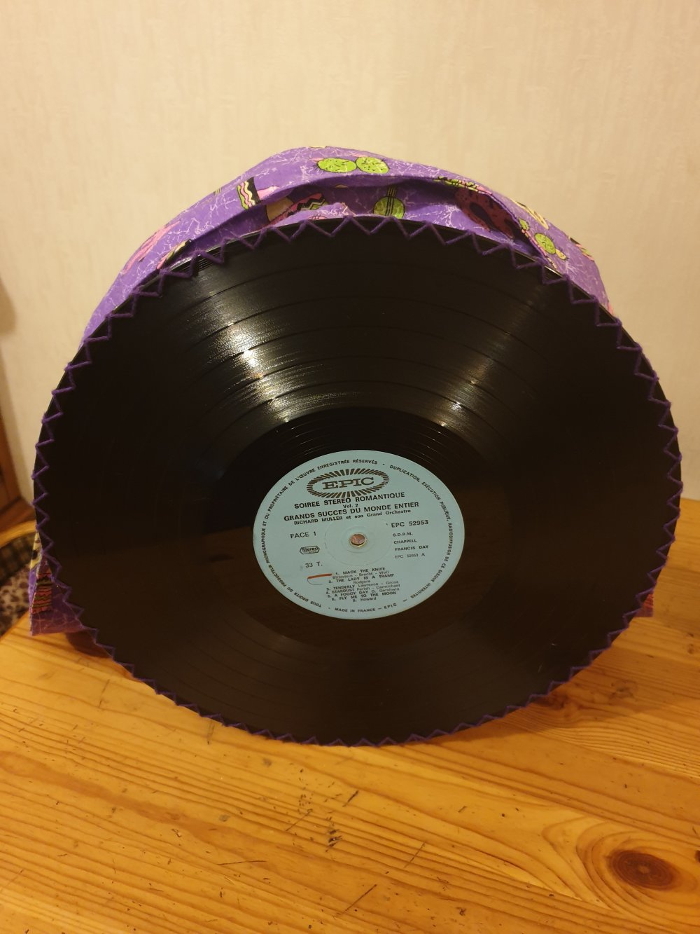 sac à main disques vinyles