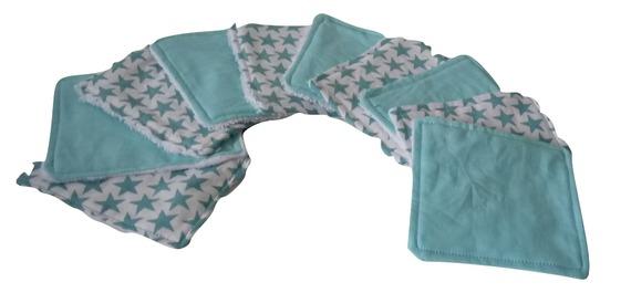 Panier en tissu et 10 lingettes assortis