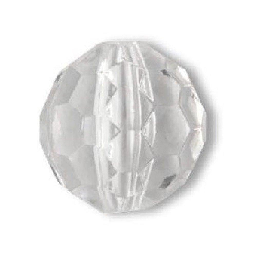 Perles x 2 pampilles 16 mm acrylique cristal facettes