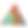 Pendentif triangle dorés peinture ethnique