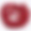 30 perles chips bambou de mer corail rouge