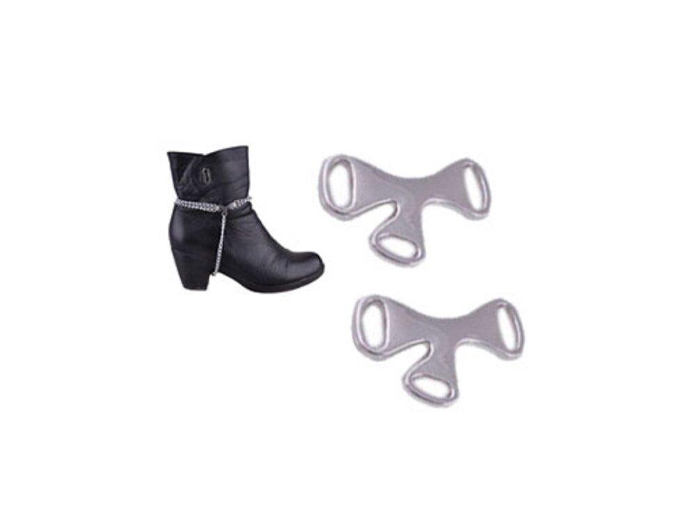 connecteurs intercalaires chaussures métal argenté x 2