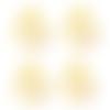 4 passants cordon bélières dorées grand trou