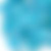 2 perles coquillages cauris 10 mm laqués bleu turquoise