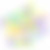 1 mot perles lettre acrylique couleurs givrées