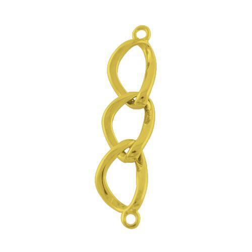 connecteurs x 2 chaîne intercalaires métal doré