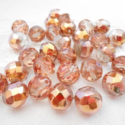 JONQUIL JONQUILLE 5 Perles Facettes cristal de boheme 12mm