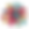 7 perles tortues howlite turquoise verte jaune rouge rose ivoire violette
