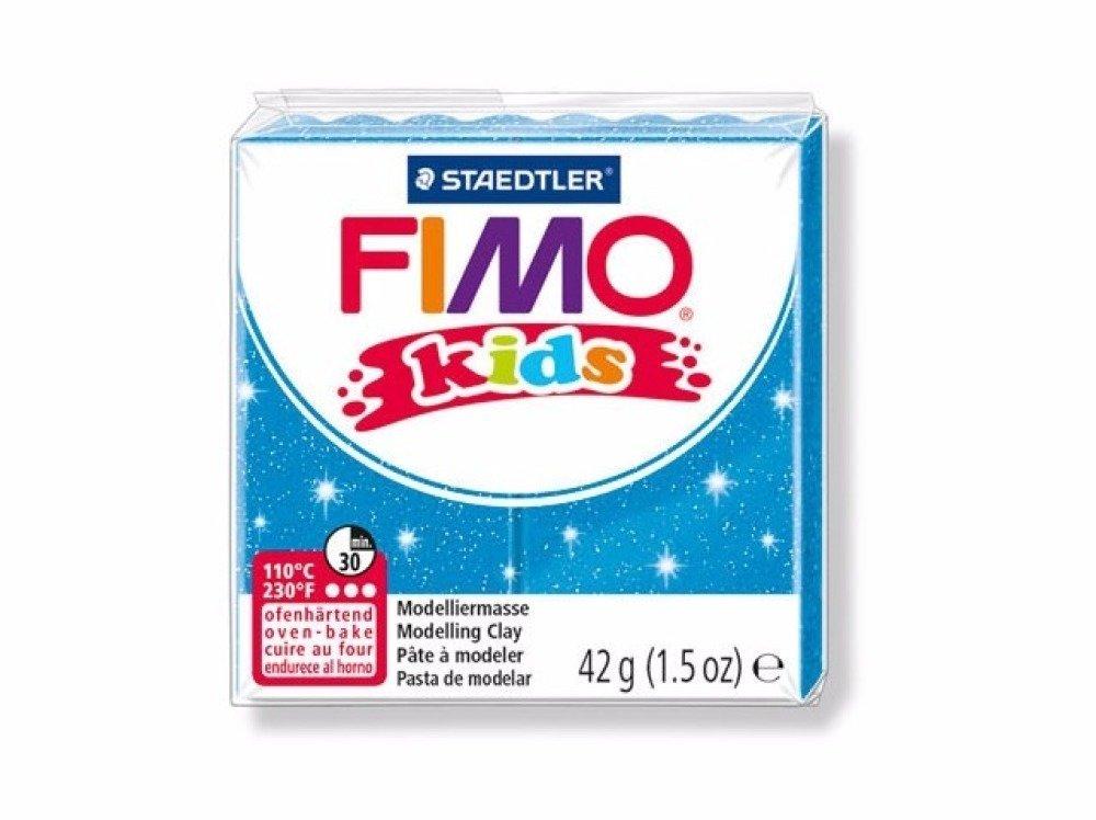 Pâte FIMO Kids Bleu Pailleté n°312 - 42gr